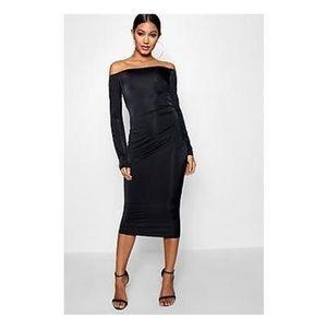Black Midi Party Dress